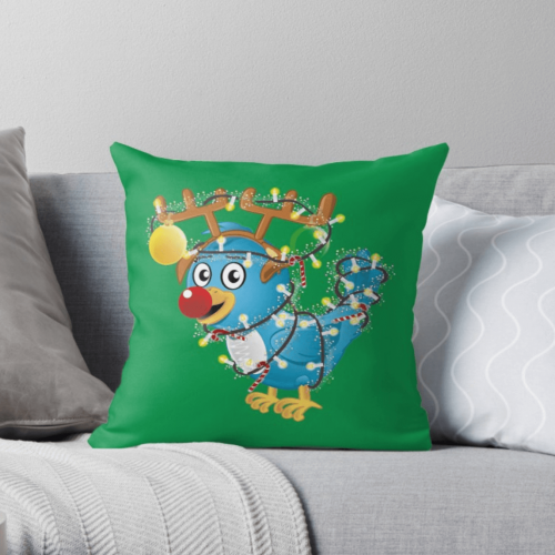 Huggybird Christmas Pillow